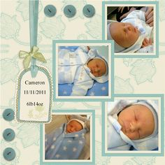 baby scrapbook layouts | some of these photos were crying out to be scrapped