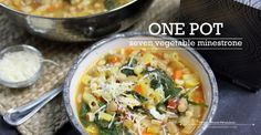 Seven Vegetable Minestrone Soup Use Gf pasta. My favorite is the corn and quinoa blend.
