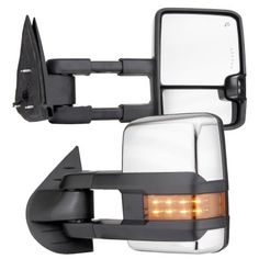 Chevy Silverado 2007-2013 Chrome Towing Mirrors LED DRL Lights Power Heated…