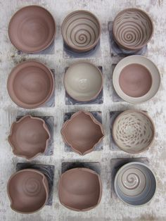 variety of bowl shapes - throwing practice, make one of each?