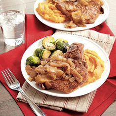 Spiced Apple Pork Chops | MyRecipes.com #myplate #protein #fruit