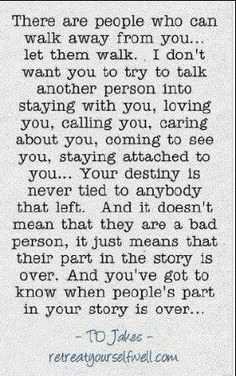 I've said this for years...just not so eloquently. People come and go throughout our lives. Some stay for a really long time, others for only a few moments. They all leave their mark on us.