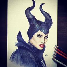 awesome Maleficent drawing