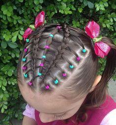 Super Easy Hairstyles, Baby Girl Hairstyles, Hairstyles For School, Cute Hairstyles, Kid Braid Styles, Braids For Kids, Toddler Hair, Hair Dos, Natural Hair Styles