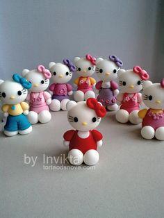 "Fondant figures ""Hello Kitty"""