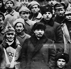 Russian Bolshevik leaders Vladimir Ilich Lenin and Kliment Voroshilov, Moscow, Russia, 1921. Lenin (1870-1924) and Voroshilov (1881-1969) at the 10th Congress of the Russian Communist Party (Bolsheviks).