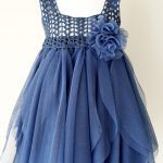 Indigo Blue Empire Waist Baby Tulle Dress with Stretch Crochet Top.Tulle dress for girls with lacy crochet bodice. Indigo Blue Empire Waist Baby Tulle Dress with Stretch Crochet Crochet Girls, Crochet For Kids, Crochet Baby, Crochet Toddler, Crochet Yoke, Crochet Poncho, Crochet Doilies, Mode Outfits, Girl Outfits