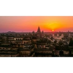 Sunset over Orchha, India