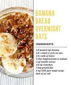 Banana Bread Overnight Oats Recipe