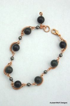 Bloodstone and Copper Bracelet What a beautiful color combination $25.00
