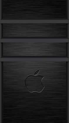 3D Apple Logo Brushed Metal Apple iPhone 5s home screen wallpapers available for free download.