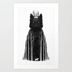 The Wolf King Art Print by DB Art