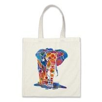 Elephant Tote bags, T Shirts, Sweatshirts and more with this Vivid Design by Artist, Jo Lynch / Whimzicals. http://www.zazzle.com/whimzicals/gifts?cg=196577069698263639#