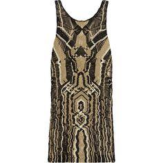 Diane von Furstenberg Neapoli metallic macramé mini dress (€420) ❤ liked on Polyvore featuring dresses, gold, metallic dress, metallic mini dress, metallic cocktail dress, diane von furstenberg cocktail dresses and diane von furstenberg