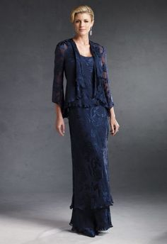 This is the style of my Mother of the Bride dress - mine is deep purple and I'm having it shortened to mid-calf length so you can see my pretty shoes!