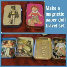 make a magnetic paper doll travel set