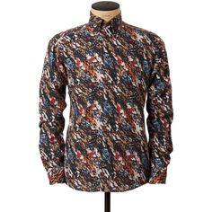 Eton-Camouflage-Printed Flannel Shirt