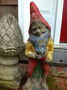 my 100 year old garden gnome from Mulford Farm antique show  photograph by tamara stephenson
