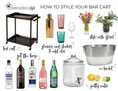 """Visit our internet site for even more details on """"bar cart decor inspiration"""". It is actually an outstanding location for more information. Bar Cart Styling, Bar Cart Decor, Vodka Red, Gold Bar Cart, Basement Layout, Gin Bar, Bar Areas, Cool Bars, Ceiling Design"""