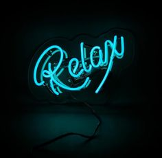 Relax neon sign