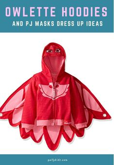Owlette hoodie perfect for PJ Mask fan. Can be worn daily or as part of a costume. Best Kids Costumes, Toy Story Costumes, Kids Costumes Girls, Homemade Halloween Costumes, Diy Halloween Costumes For Kids, Creative Costumes, Toddler Costumes, Boy Costumes, Halloween Stuff