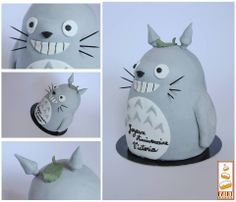 Totoro Cake, gâteau personnalisé Totoro en 3D Gâteau d'anniversaire sur mesure en pâte à sucre