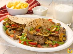 Mushroom Steak Fajitas #veggies #grains #protein #MyPlate #WhatsCooking