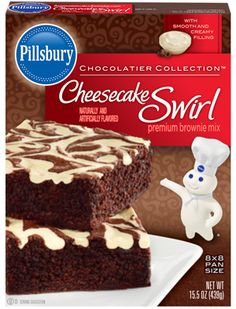 Cheesecake Swirl, Pillsbury, General Mills, Inc. One General Mills Boulevard Golden Valley, Minnesota, U.S. and the J.M. Smucker Company, Orrville, Ohio, United States.
