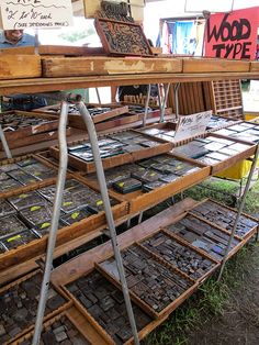 On the blog: My first trip to the Brimfield Antiques Market. There was letterpress, rustic furniture, and some cool little display items.