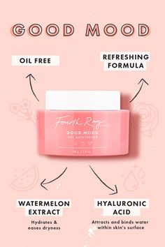 Good Mood Gel oil-free Moisturizer by Fourth Ray (box Pretty N Flawed had June Email Design, Web Design, Cosmetic Design, Ads Creative, Newsletter Design, Social Media Design, Graphic Design Posters, Good Mood, Banner Design