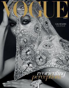 Model Gigi Hadid on Vogue Arabia March 2017 Cover