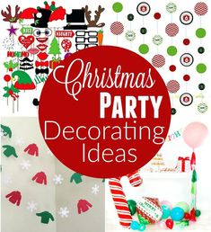 Throwing a Christmas Party? These Christmas Party Decorating Ideas are sure to bring a smile to your guests face! Photo Booth props, wall decorations, table decorations and much more! Christmas In July, Simple Christmas, Family Christmas, Beautiful Christmas, Christmas Gifts, Xmas, Easy Christmas Decorations, Christmas Party Decorations, Wall Decorations