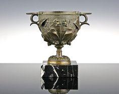 Antikes Bronze Gefäß um 1820-1840 Efeu Kantharos Vase Amphore | eBay