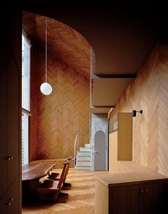 Masahiro and Mao Harada of Mount Fuji Architects Studio wanted to break with the traditional definition of a house when they designed this small Tokyo home.