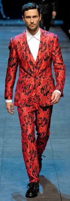 Pattern red suit by Dolce and Gabbana