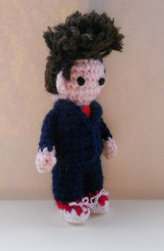 Amigurumi Tenth Doctor by sophiecat91, via Flickr