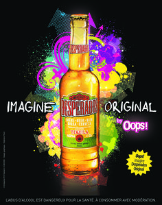 Desperados by Oops ! Creative Advertising, Advertising Design, Tequila, Whiskey Bottle, Design Projects, Competition, Communication, Food And Drink, Root Beer