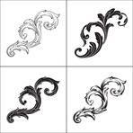 Illustration of set of vintage design elements. Baroque vector. Premium quality. Baroque ornament.