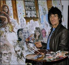 76 Best Ronnie Wood Art Images Ronnie Wood Art Painting
