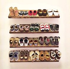 Handmade Floating Shoe Rack by shopcraftypapa on Etsy