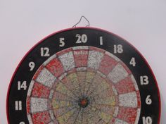 Vintage Dart Board Baseball // Fathers Day Gift // Den Man Cave Decor  by SunsetStreet, $28.00