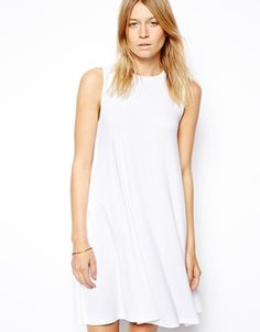 Image 1 of ASOS Sleeveless Swing Dress