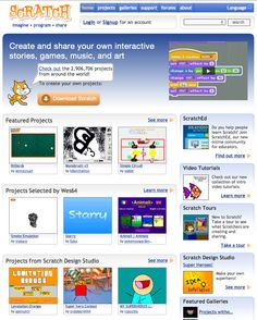 Scratch.mit.edu: the place to download, upload, remix and reuse projects.