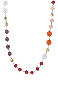 Rose Dyed Jade, Gold & Epoxy Necklace | Turquoise Aileen Necklace | Stella & Dot
