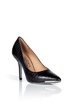 Salvatore Ferragamo Lizard Embossed Heels at Stylebop image