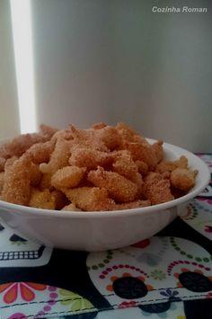 mini churros com açúcar e canela (e na versão salgada também)