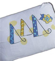 pansy pillowcase