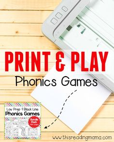 Print and Play Phonics Games - 300+ Phonics Games at your Fingertips!! | This Reading Mama