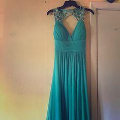 Long formal dress blue-teal long formal dress, only worn once! Dresses Prom