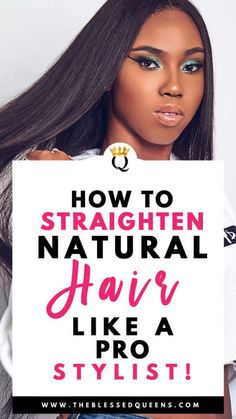 How To Straighten Natural Hair Like A Pro Stylist! - The Blessed Queens - How To Straighten Natural Hair Like A Pro Stylist! – The Blessed Queens How To Straighten Natural Hair Like A Pro Stylist! – The Blessed Queens Long Natural Hair, Natural Hair Updo, Natural Curls, Natural Hair Styles, Trending Hairstyles, Cool Hairstyles, Beautiful Hairstyles, Elegant Hairstyles, Weave Hairstyles
